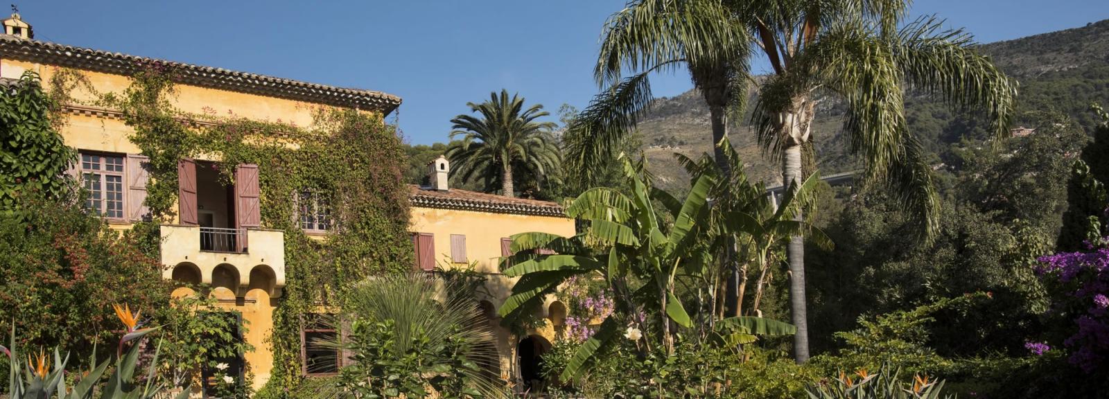 Jardin botanique du Val Rahmeh - Menton - Vue de la maison depuis le jardin © MNHN - A. Iatzoura